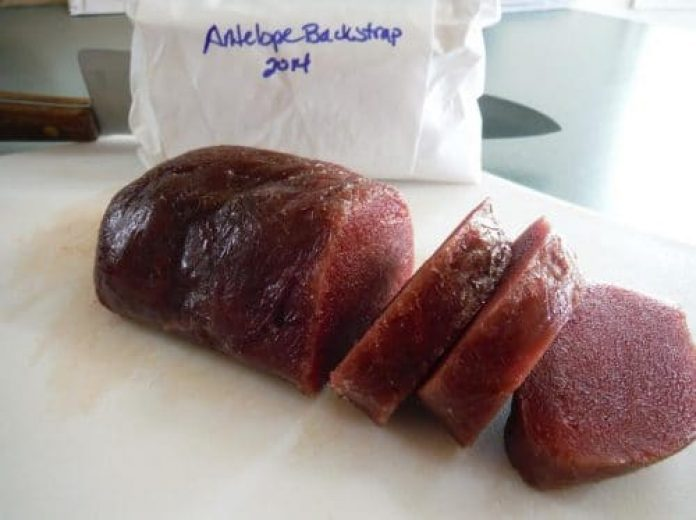 antelope backstrap tenderloins