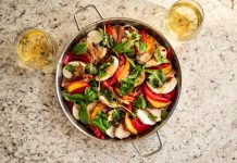 WILD TURKEY AND PEACH CAPRESE