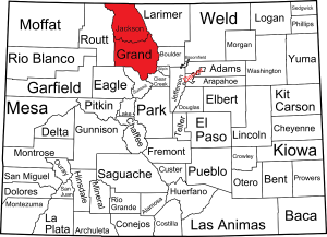 COLORADO WOLF SIGHTING MAP